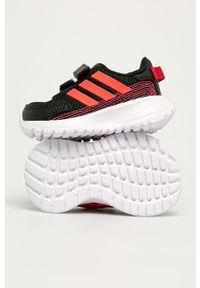 Czarne buty sportowe Adidas z okrągłym noskiem, na rzepy