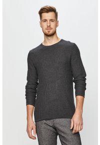 Szary sweter Premium by Jack&Jones na co dzień, długi, z długim rękawem