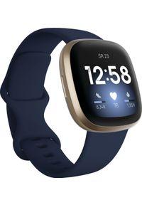 FITBIT - Smartwatch Fitbit Versa 3 Granatowy (4061856797939). Rodzaj zegarka: smartwatch. Kolor: niebieski