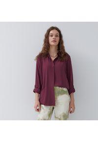 House - Gładka koszula basic - Fioletowy. Kolor: fioletowy. Wzór: gładki