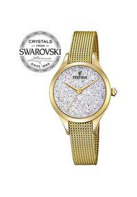 Żółty zegarek Festina klasyczny