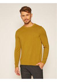 Żółty sweter klasyczny Marc O'Polo polo