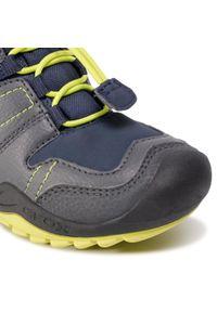 Szare buty zimowe Geox na spacer, z cholewką