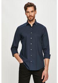 Niebieska koszula Calvin Klein klasyczna, gładkie, długa