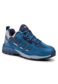 Niebieskie buty trekkingowe Jack Wolfskin trekkingowe, z cholewką