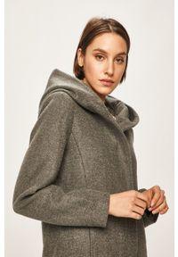 Szary płaszcz only z kapturem