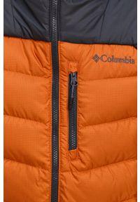 columbia - Columbia - Kurtka puchowa. Okazja: na co dzień. Kolor: pomarańczowy. Materiał: puch. Styl: casual