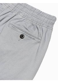 Ombre Clothing - Spodnie męskie joggery P885 - szare - XXL. Kolor: szary. Materiał: elastan, bawełna. Styl: klasyczny