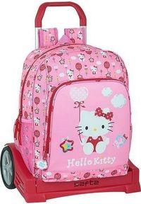 Różowy plecak Hello Kitty z motywem z bajki
