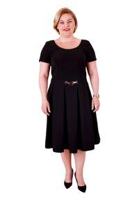 Sukienka Moda Size Plus Iwanek biznesowa, rozkloszowana
