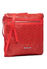 Refresh - Torebka REFRESH - 83370 Red. Kolor: czerwony. Materiał: skórzane