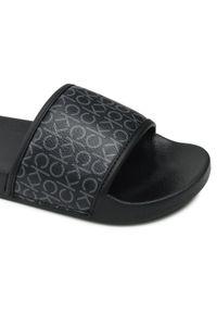 Calvin Klein Jeans - Klapki CALVIN KLEIN JEANS - Pool Slide Mono HW0HW00557 Black Mono 0GK. Kolor: czarny. Materiał: skóra