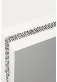 Srebrny naszyjnik Patrizia Pepe metalowy, z aplikacjami