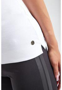 TOP TALESIA JOOP!. Materiał: prążkowany, bawełna. Długość rękawa: na ramiączkach. Wzór: aplikacja
