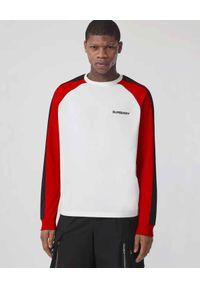 Burberry - BURBERRY - Koszulka z długim rękawem. Kolor: czarny. Materiał: bawełna. Długość rękawa: długi rękaw. Długość: długie. Wzór: nadruk