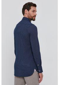 TOMMY HILFIGER - Tommy Hilfiger - Koszula. Typ kołnierza: button down. Kolor: niebieski. Materiał: tkanina, bawełna. Długość rękawa: długi rękaw. Długość: długie