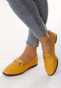 Born2be - Żółte Mokasyny Accompanist. Kolor: żółty. Wzór: gładki. Obcas: na obcasie. Wysokość obcasa: niski