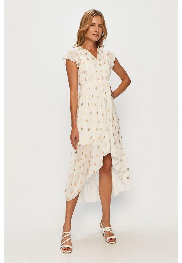 Biała sukienka Haily's midi, rozkloszowana