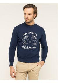 Pepe Jeans Bluza Alexis PM581715 Granatowy Regular Fit. Kolor: niebieski