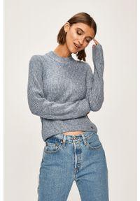 Niebieski sweter Pepe Jeans casualowy, na co dzień, melanż