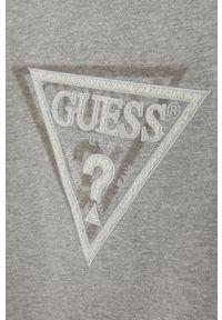 Szara bluza Guess Jeans bez kaptura, z aplikacjami