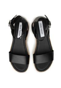 Czarne sandały Steve Madden na co dzień, casualowe