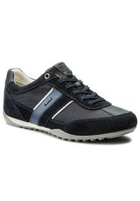 Geox - Sneakersy GEOX - U Wells C U52T5C 02211 C4021 Dk Navy. Okazja: na co dzień. Kolor: niebieski. Materiał: materiał, zamsz. Styl: sportowy, casual