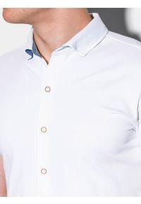 Biała koszula Ombre Clothing z klasycznym kołnierzykiem, na lato