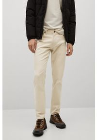 Mango Man - Spodnie PISA. Kolor: szary. Materiał: dzianina, bawełna. Wzór: gładki