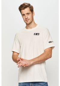 Biały t-shirt Element casualowy, na co dzień