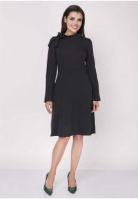 Czarna sukienka wizytowa Nommo mini, wizytowa