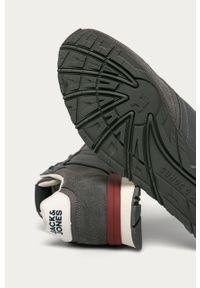 Szare sneakersy Jack & Jones z cholewką, na sznurówki