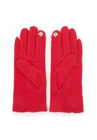 Czerwone rękawiczki Wittchen eleganckie, z haftami, na zimę
