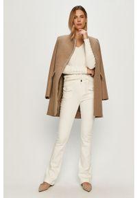 Białe jeansy bootcut Morgan z podwyższonym stanem