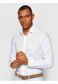 Biała koszula casual Calvin Klein z nadrukiem