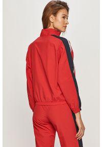 Czerwona bluza rozpinana Champion bez kaptura, casualowa, na co dzień