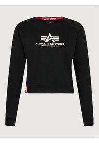 Alpha Industries Bluza Basic Boxy 128052 Czarny Relaxed Fit. Kolor: czarny