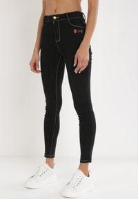 Born2be - Czarne Jeansy Skinny Moriyah. Kolor: czarny. Materiał: jeans