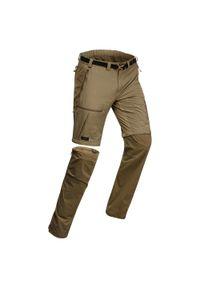 FORCLAZ - Spodnie trekkingowe 2w1 - Trek 500 - męskie. Materiał: poliester, poliamid, materiał, elastan