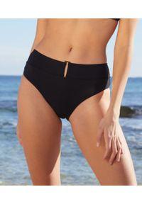 Czarne dół bikini Etam z podwyższonym stanem