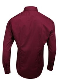 Czerwona elegancka koszula Bello do pracy, z długim rękawem, długa