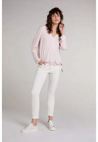 Różowa bluzka długa, z długim rękawem