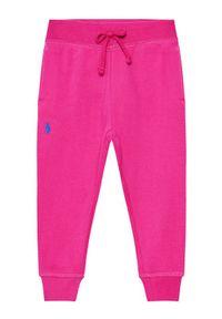 Polo Ralph Lauren Spodnie dresowe Fleece 311833611001 Różowy Regular Fit. Kolor: różowy. Materiał: dresówka