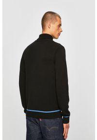 Czarny sweter Blend z golfem, na co dzień
