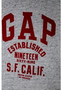Szara koszulka z długim rękawem GAP casualowa, na co dzień
