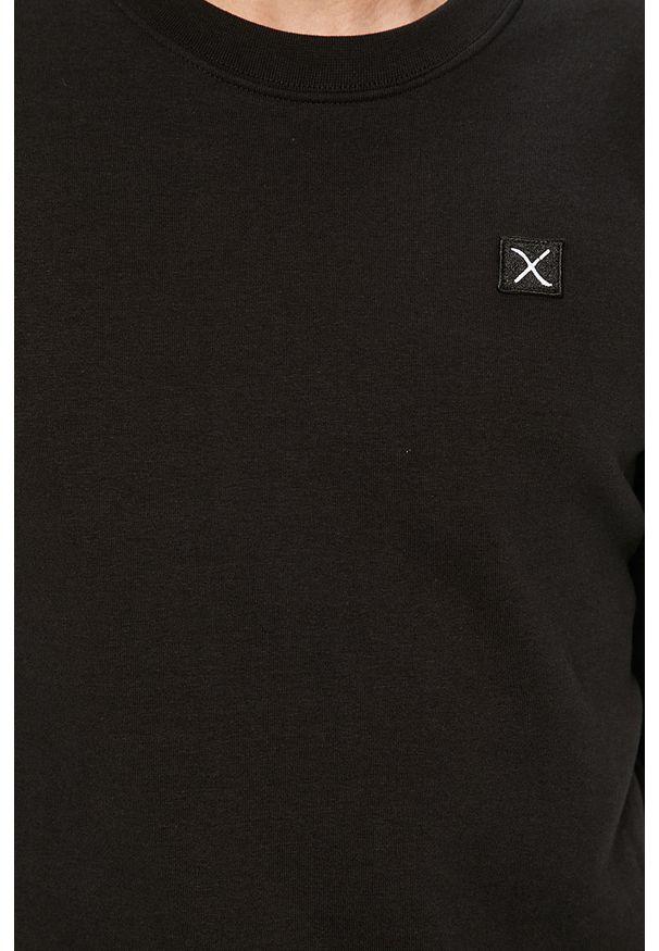 Czarna bluza nierozpinana Clean Cut Copenhagen z okrągłym kołnierzem, na co dzień, casualowa