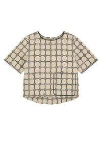 BURBERRY CHILDREN - Bluzka z nadrukiem 4-10 lat. Kolor: beżowy. Materiał: materiał. Wzór: nadruk. Sezon: lato. Styl: klasyczny