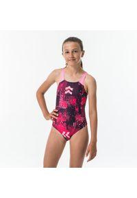 NABAIJI - Strój Jednoczęściowy Pływacki Kamyleon All Map Dla Dzieci. Kolor: niebieski, różowy, wielokolorowy. Materiał: materiał