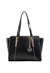 Czarna torba na laptopa MCKLEIN paisley, elegancka