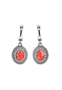 Polcarat Design - Srebrne kolczyki z kryształami Swarovski K2 2093. Materiał: srebrne. Kolor: srebrny. Wzór: aplikacja. Kamień szlachetny: kryształ
